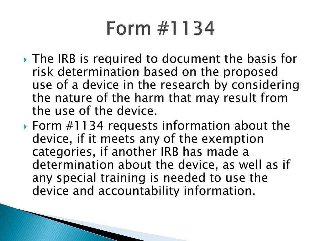Form #1134