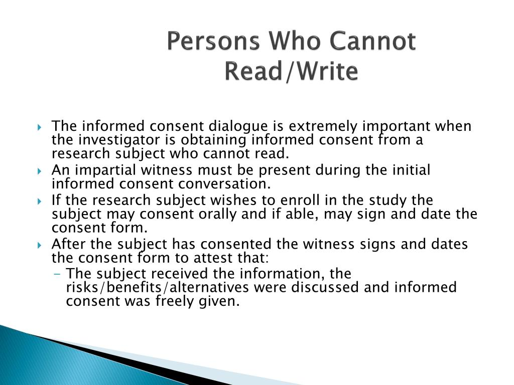 Persons Who Cannot Read/Write