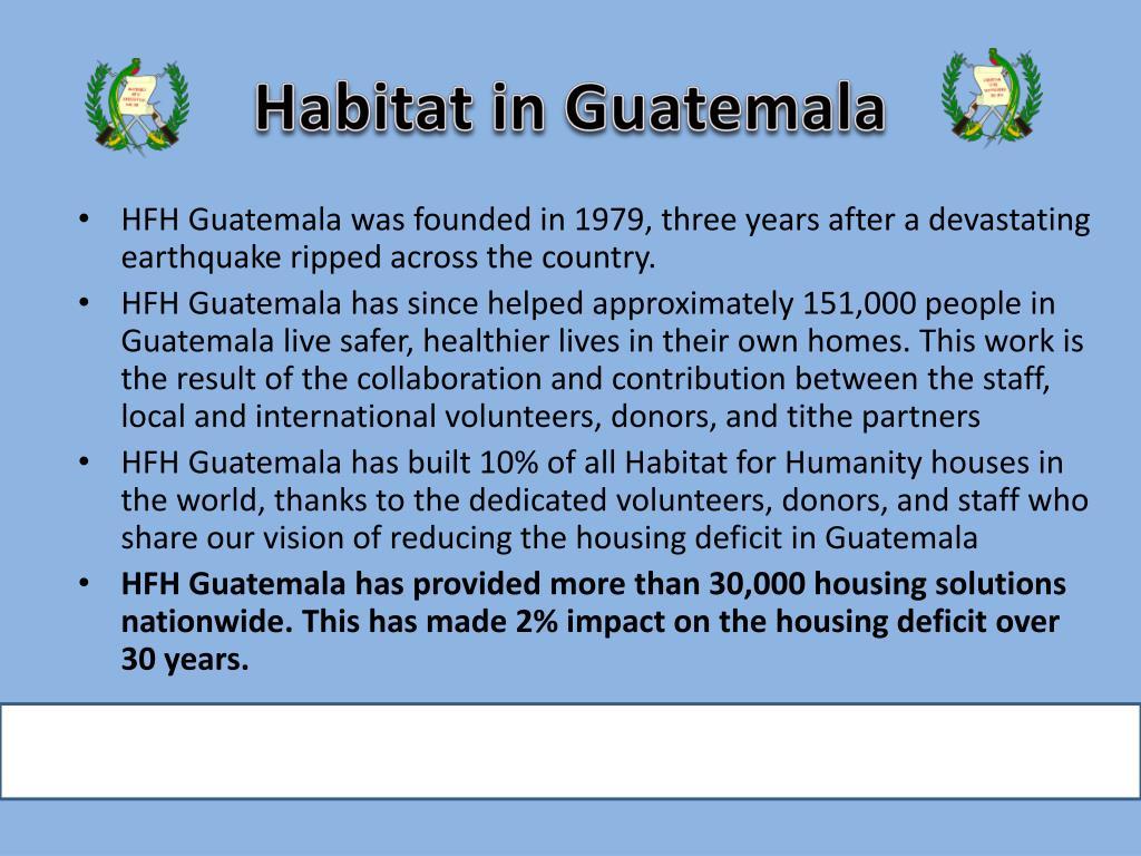 Habitat in Guatemala