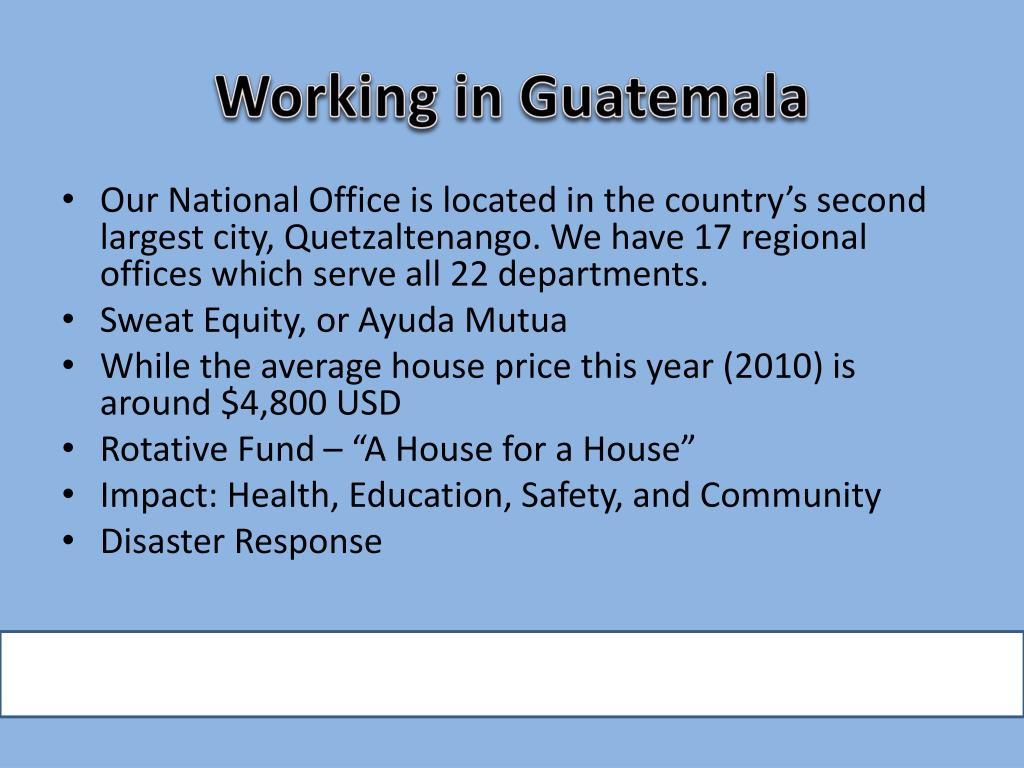 Working in Guatemala