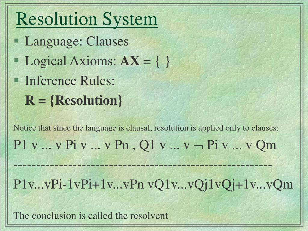 Resolution System