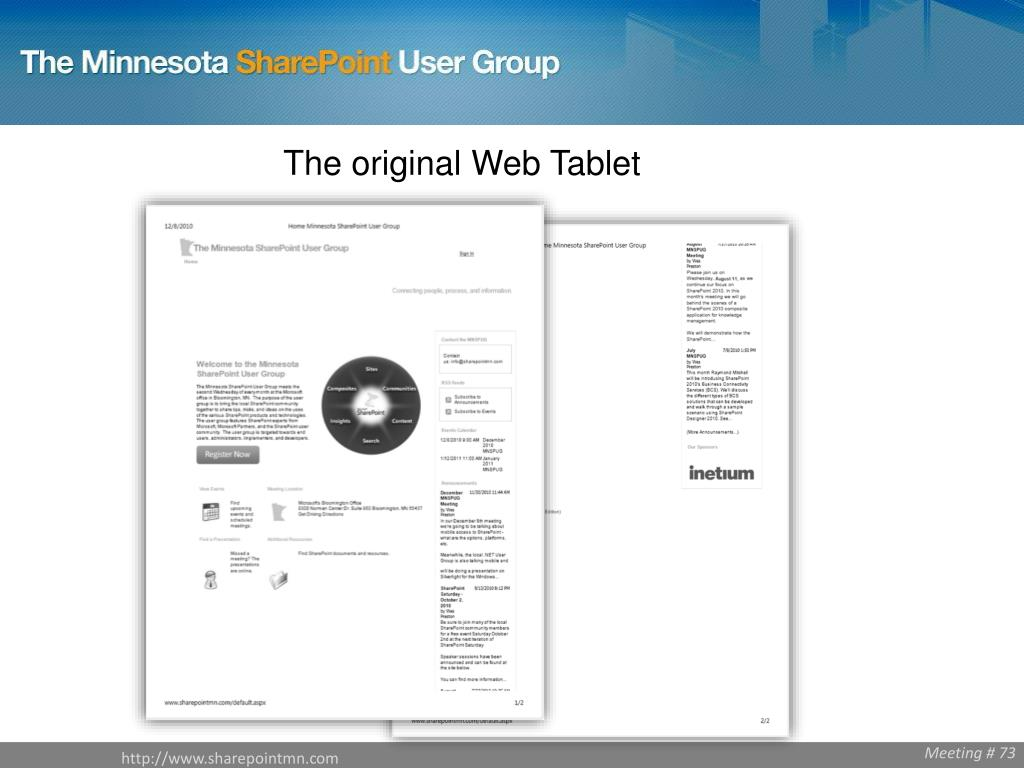 The original Web Tablet