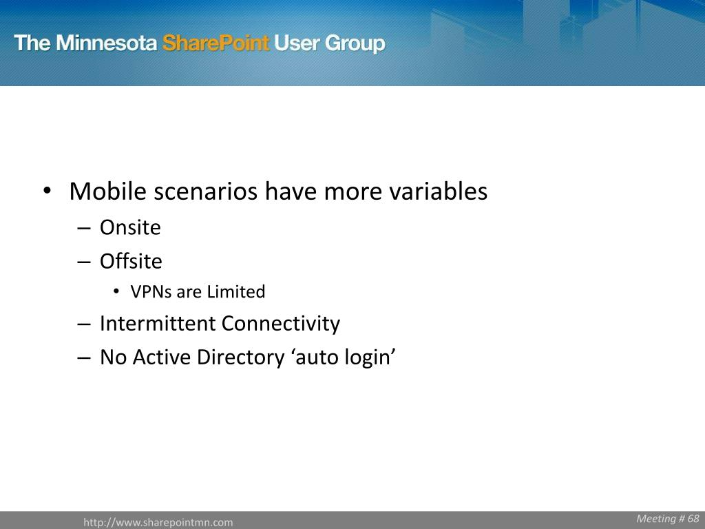 Mobile scenarios have more variables