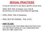 sexual practices