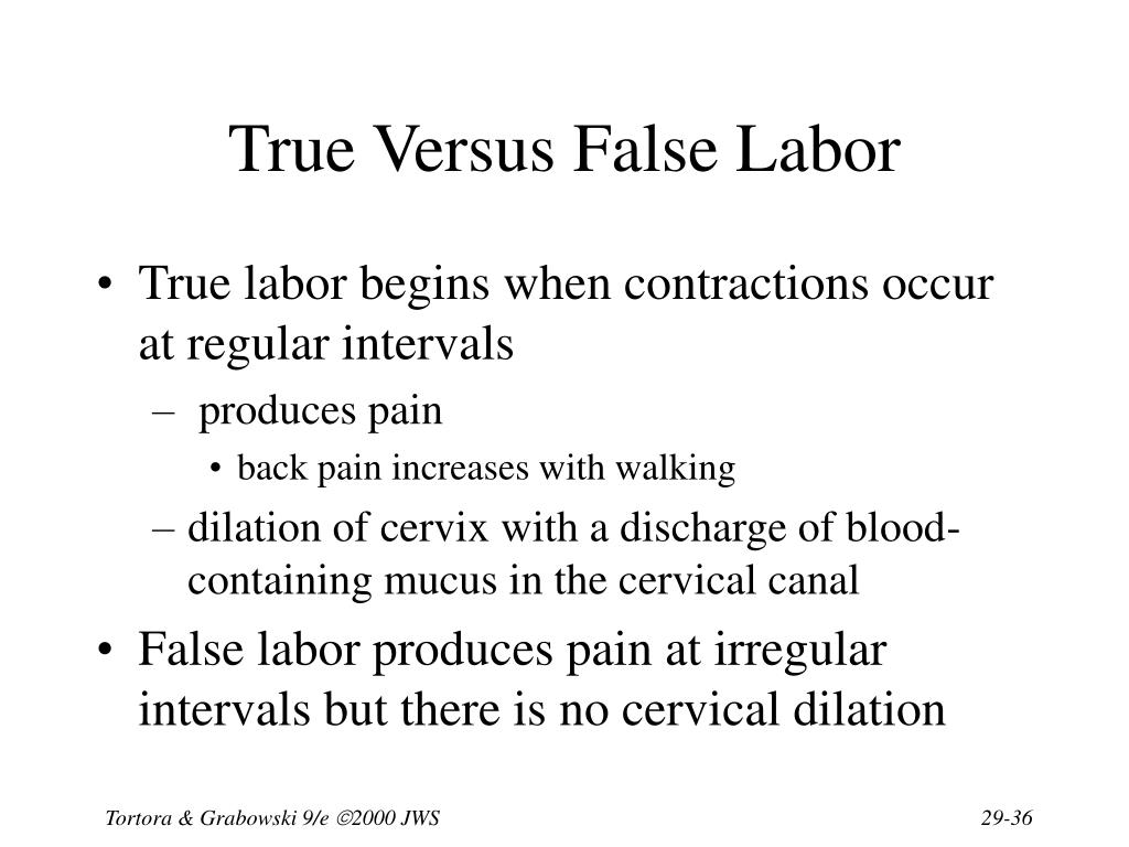 True Versus False Labor