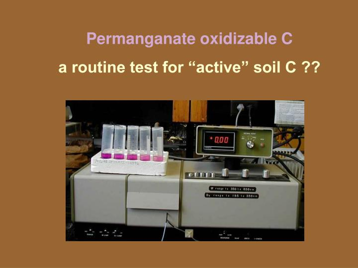 Permanganate oxidizable C