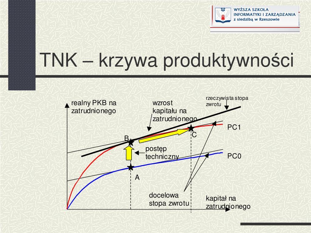 TNK – krzywa produktywno