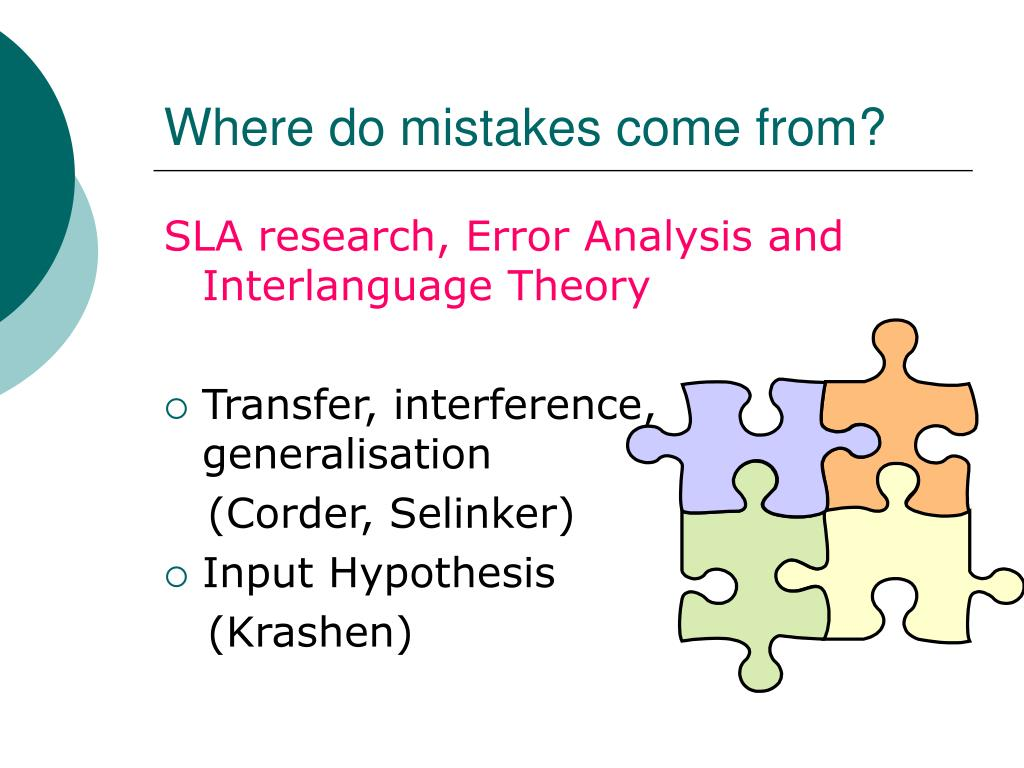 Where do mistakes come from?