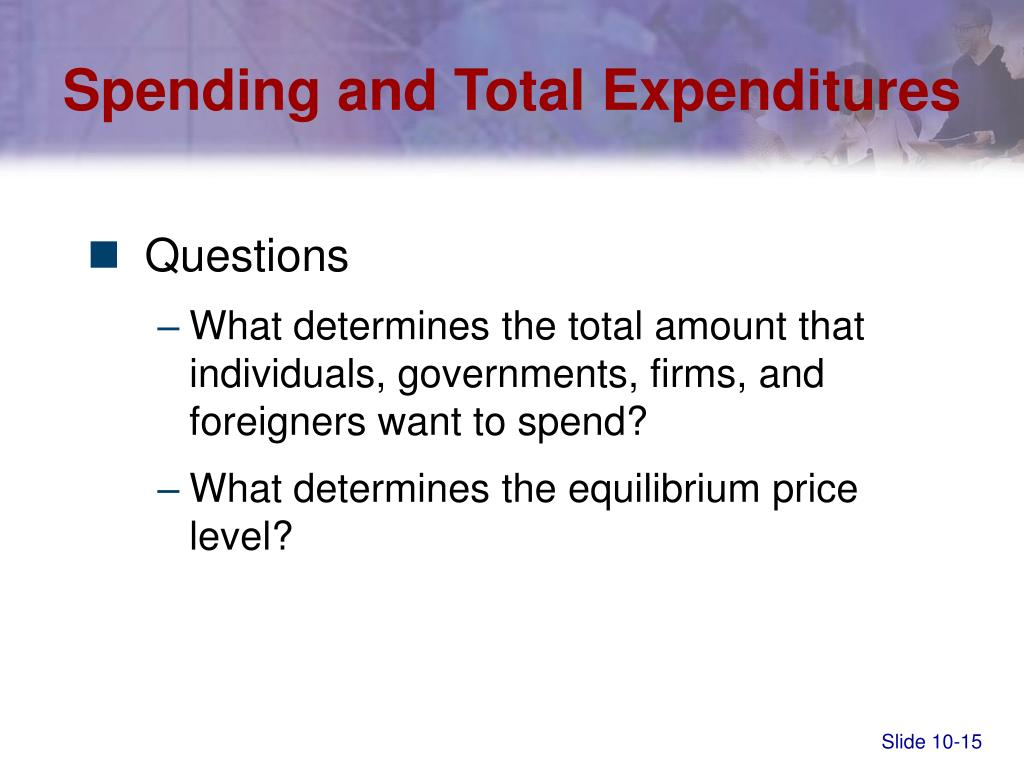 Spending and Total Expenditures