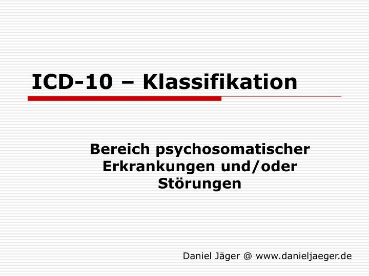 Icd 10 klassifikation l.jpg