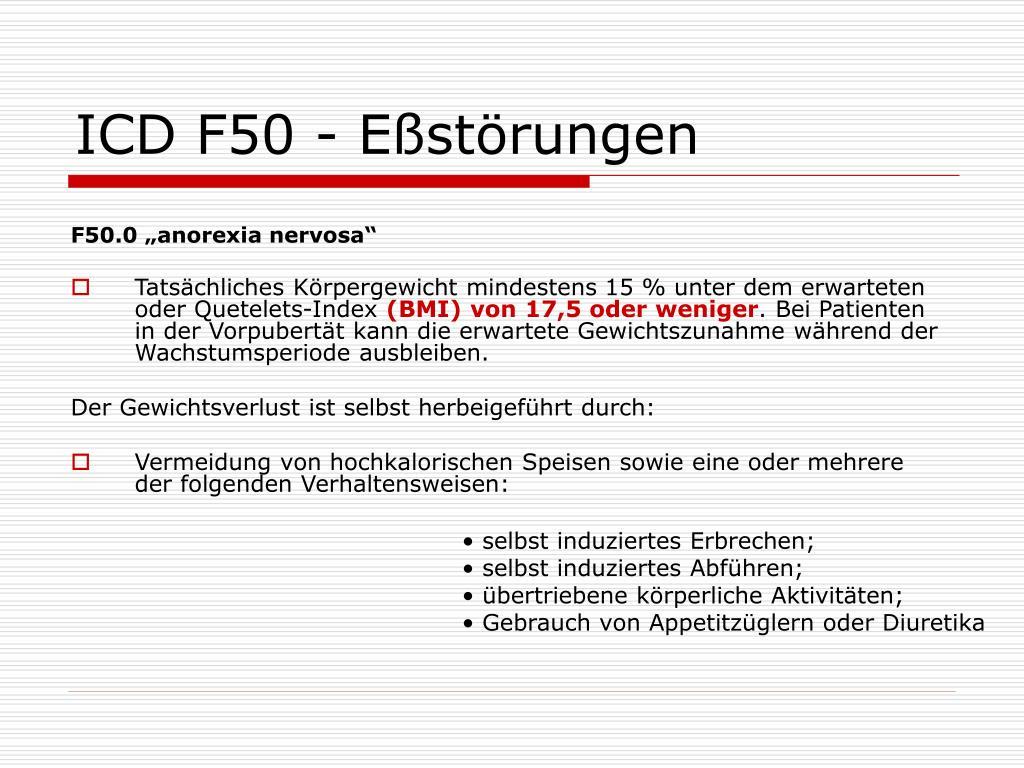 ICD F50 - Eßstörungen