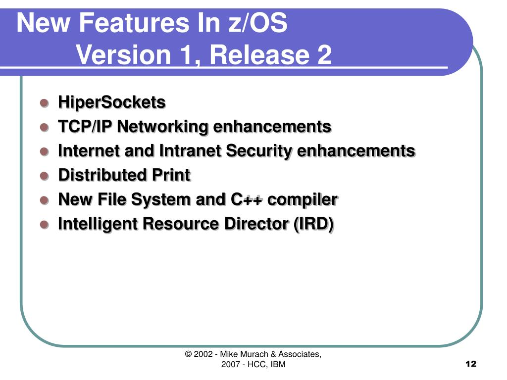 New Features In z/OS