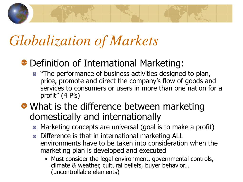 uncontrollable factors in international marketing