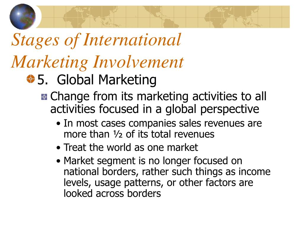 scope of international marketing research The scope of international marketing identifying needs and wants of customers in different markets and cultures, providing products, services, technologies and ideas.