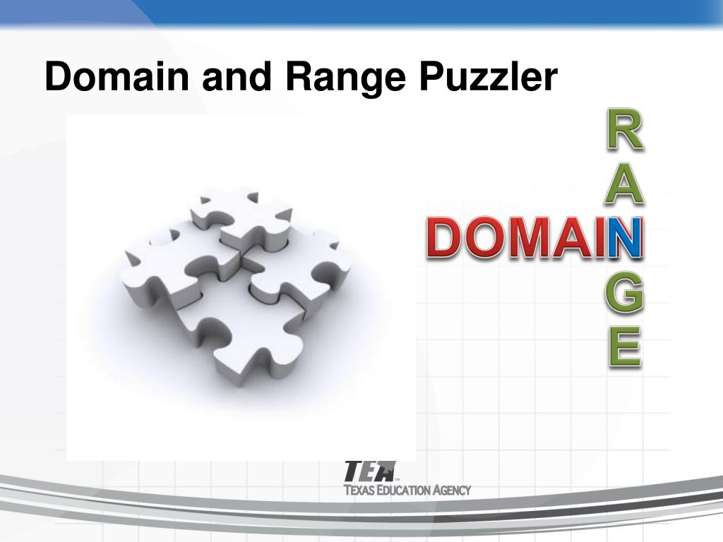 Domain and Range Puzzler