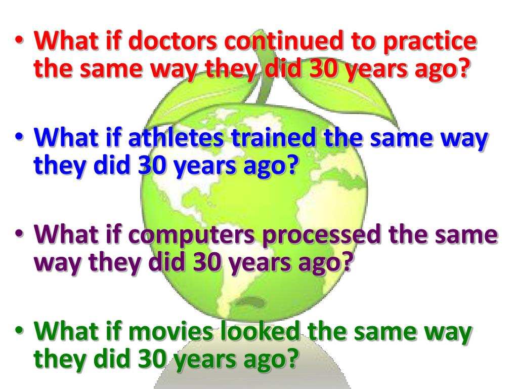 What if doctors continued to practice the same way they did 30 years ago?