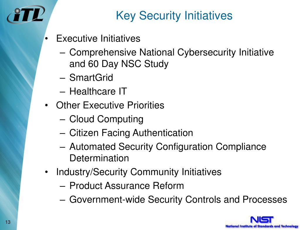 Key Security Initiatives