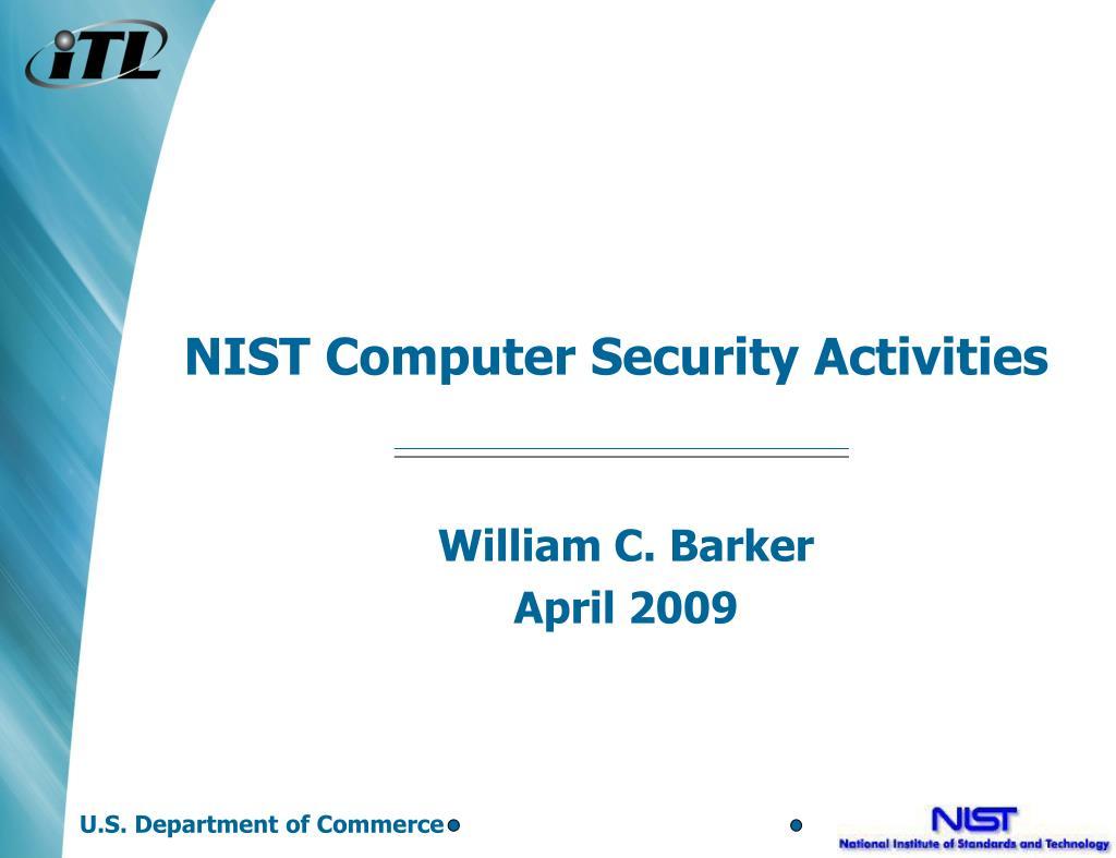 NIST Computer Security Activities