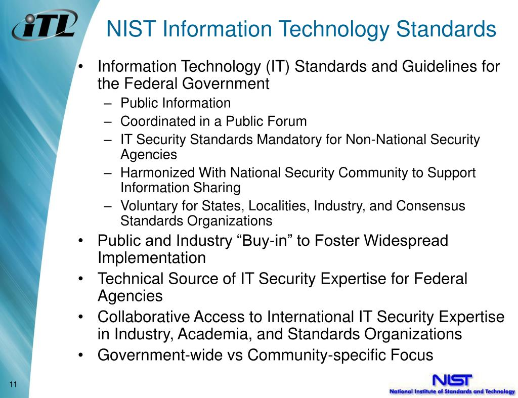 NIST Information Technology Standards