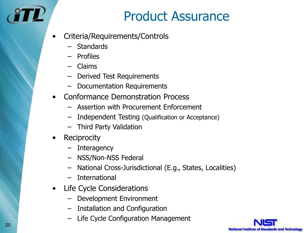 Product Assurance