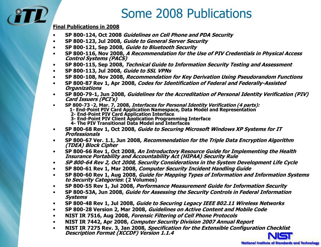 Some 2008 Publications