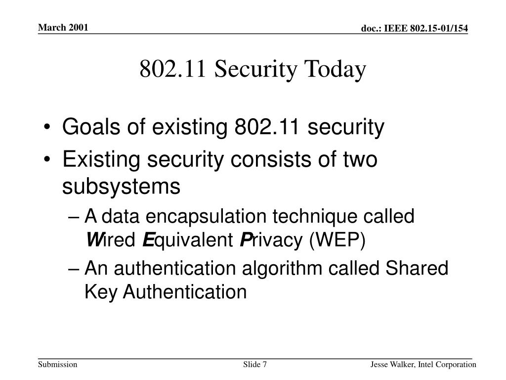802.11 Security Today