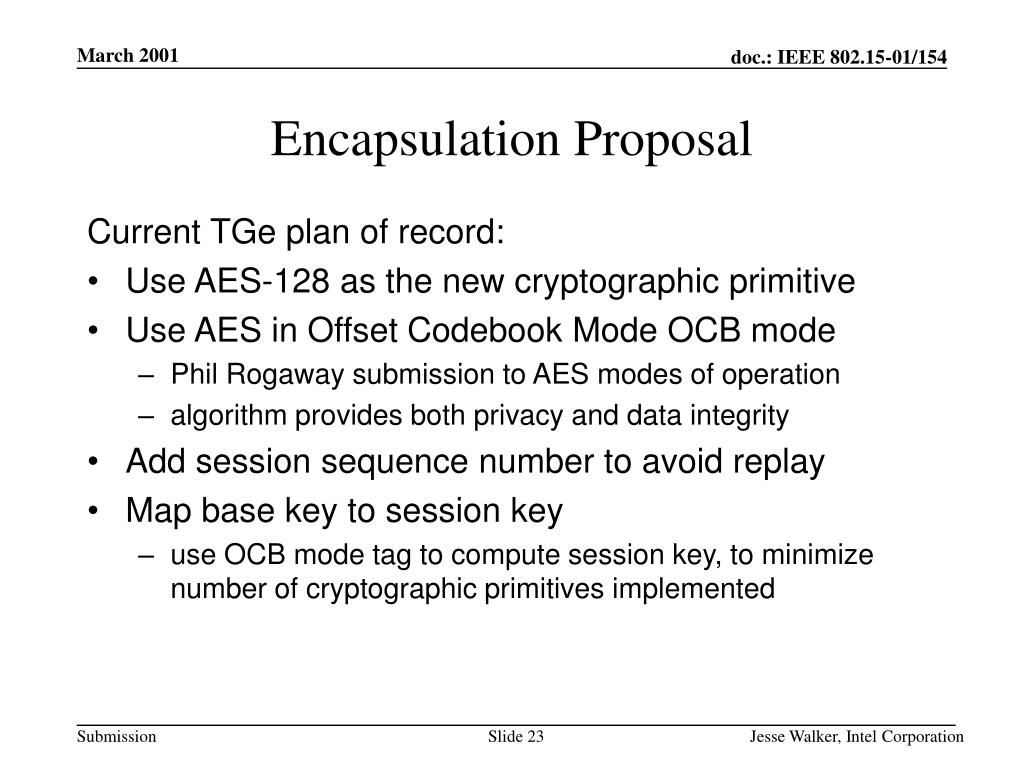 Encapsulation Proposal