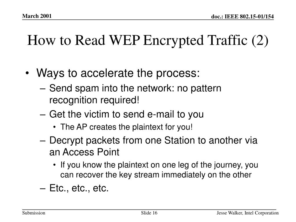 How to Read WEP Encrypted Traffic (2)