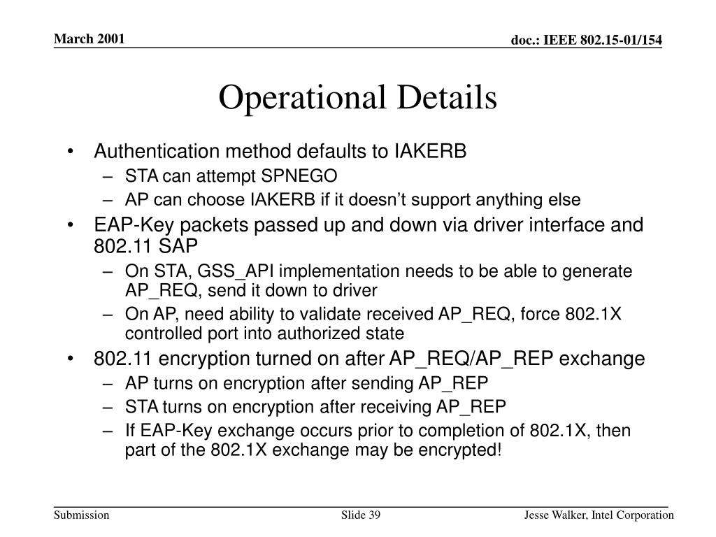 Operational Details