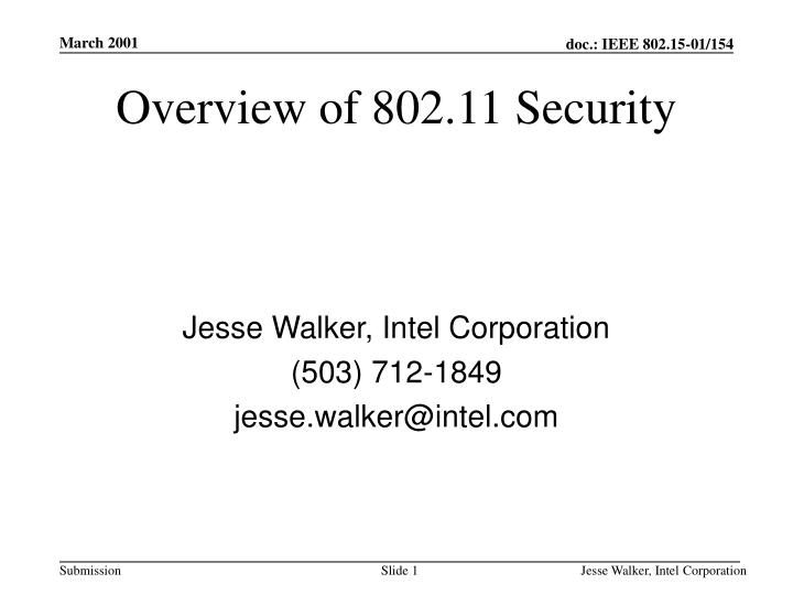 Overview of 802 11 security l.jpg