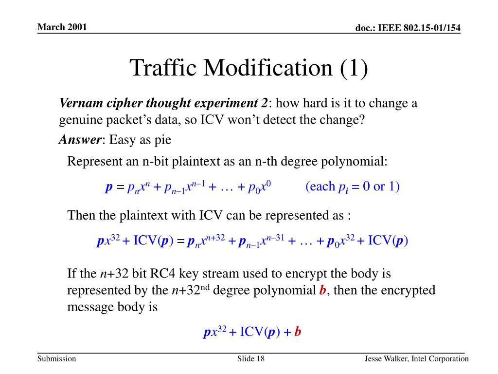 Traffic Modification (1)