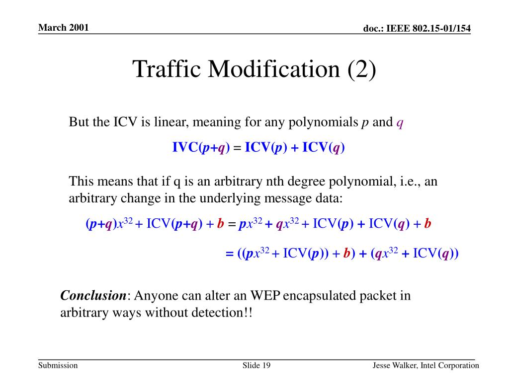 Traffic Modification (2)