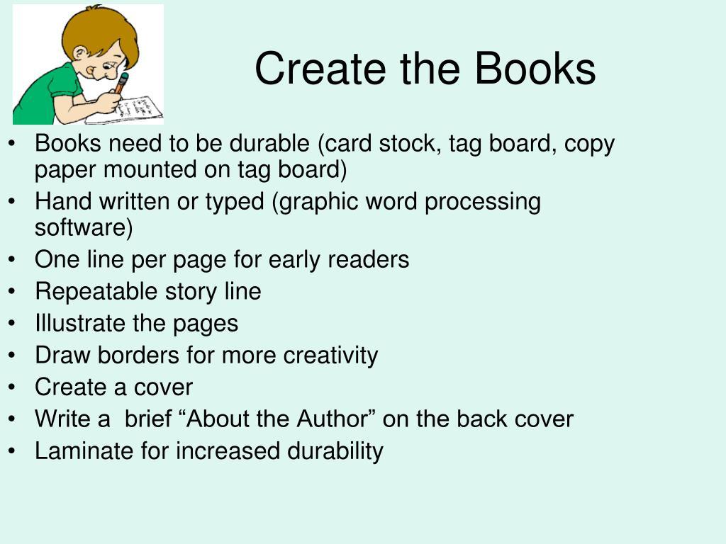 Create the Books