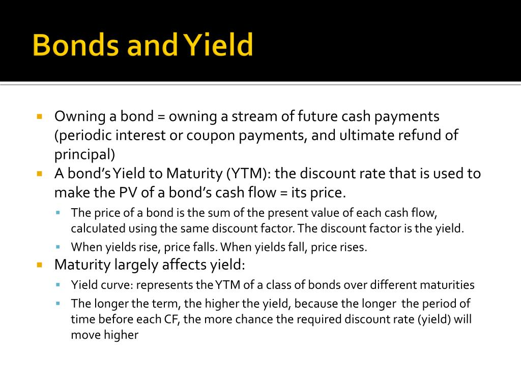 Bonds and Yield