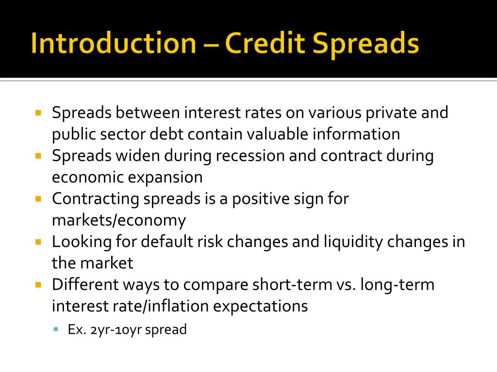 Introduction – Credit Spreads