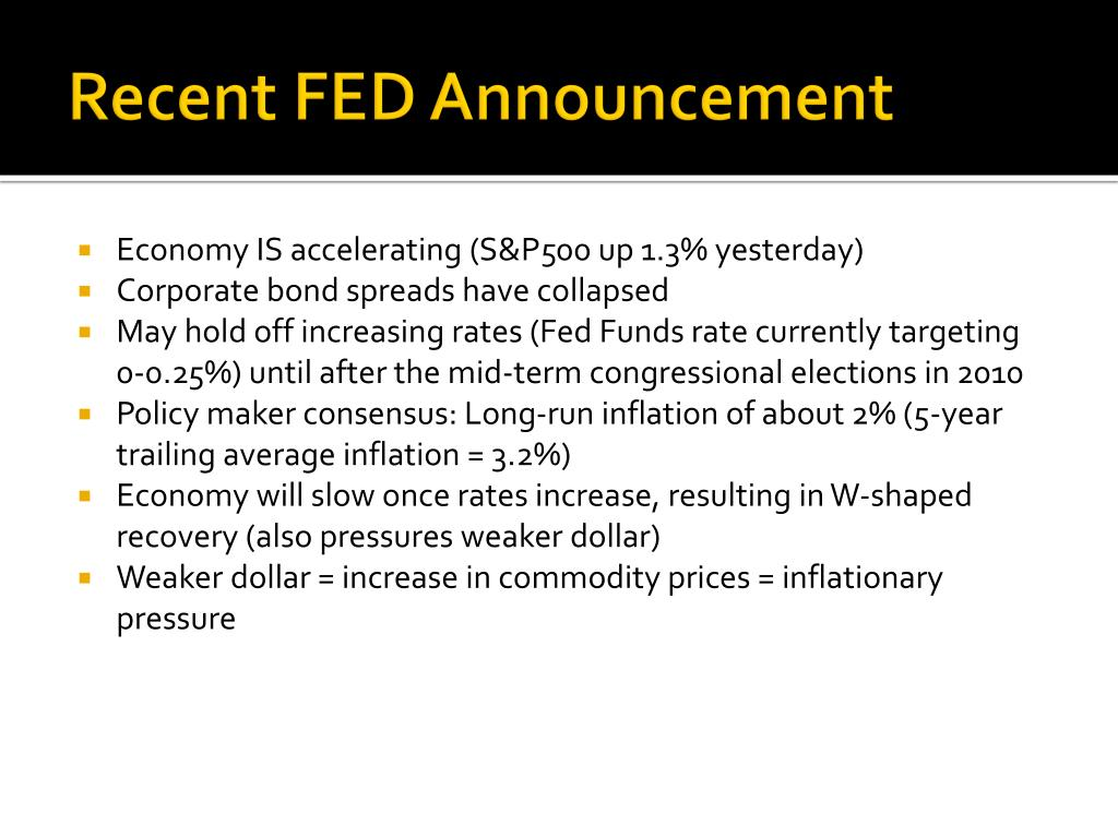Recent FED Announcement