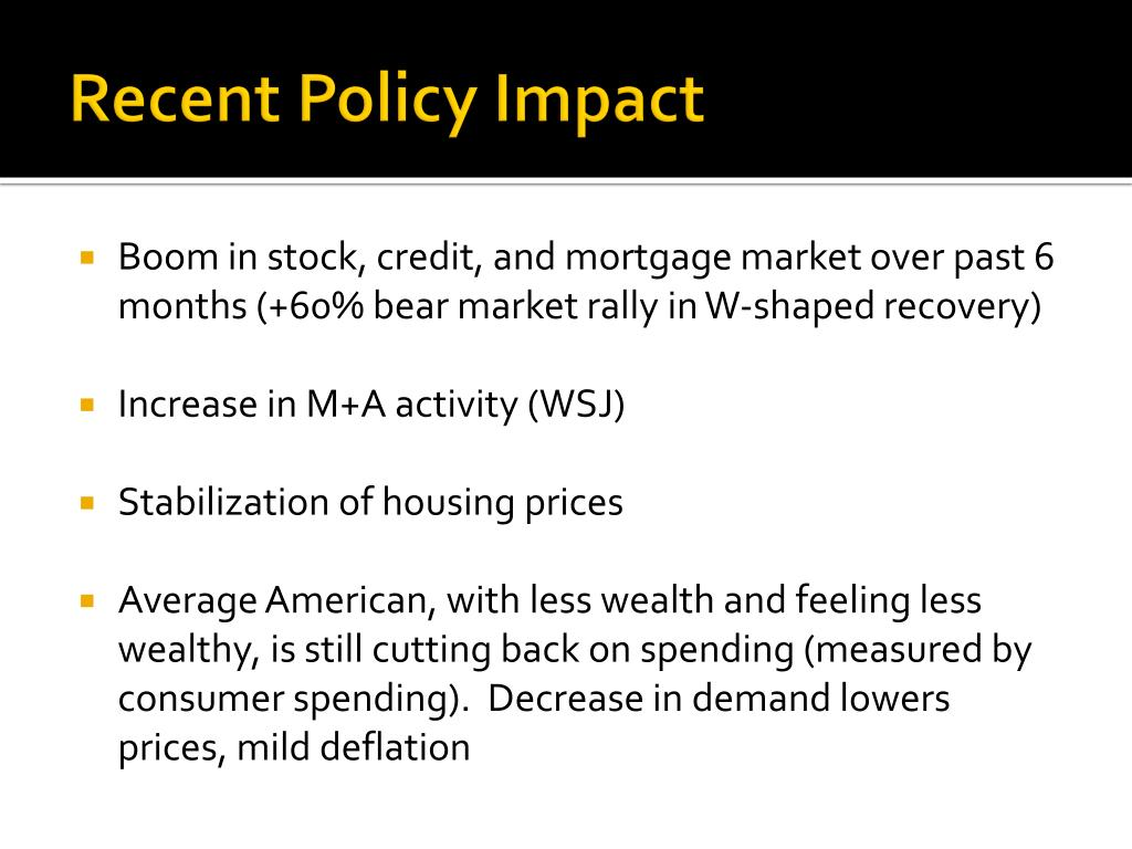 Recent Policy Impact