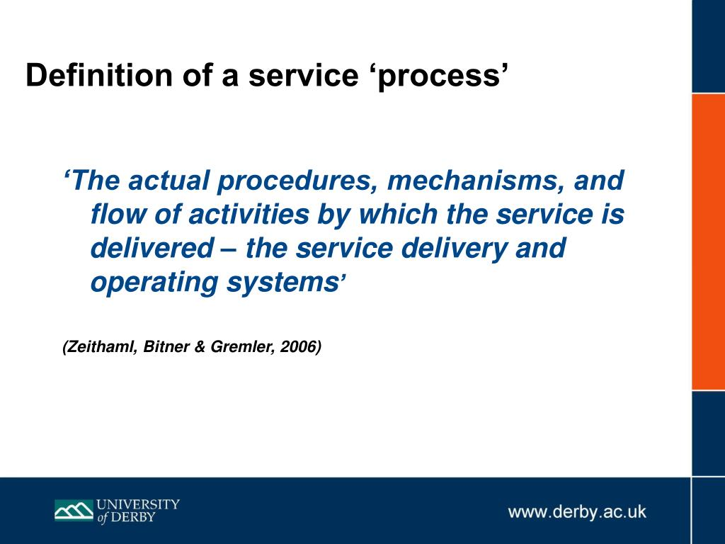 Definition of a service 'process'