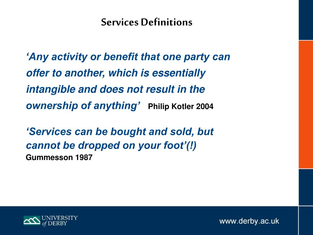 Services Definitions