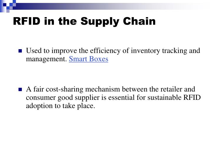 rfid in retail supply chain Finally till retail stores rfid increase to the visibility and performance of supply chain rfid technologies provide real time information and.