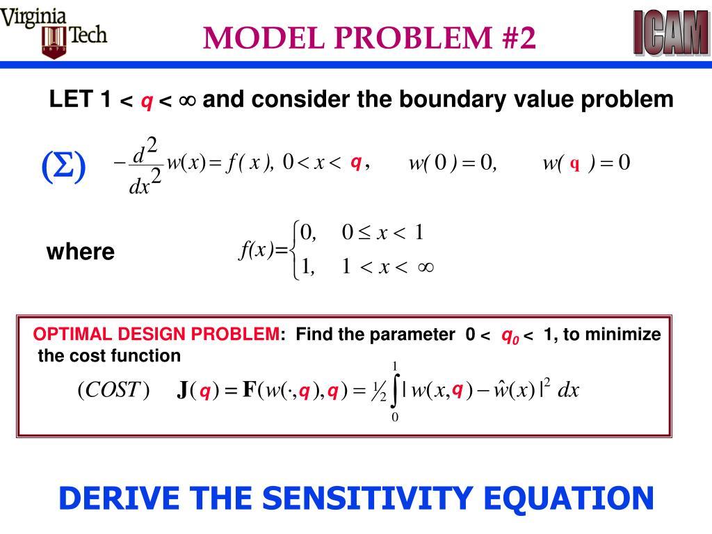 OPTIMAL DESIGN PROBLEM