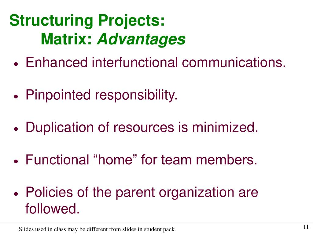 Structuring Projects: