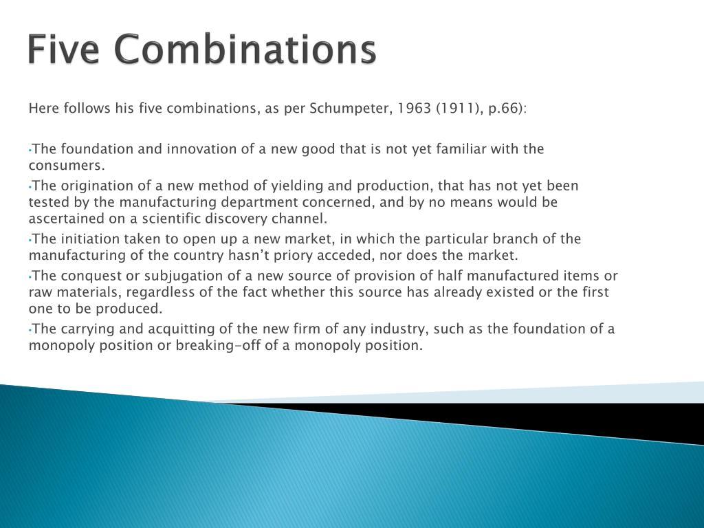Five Combinations