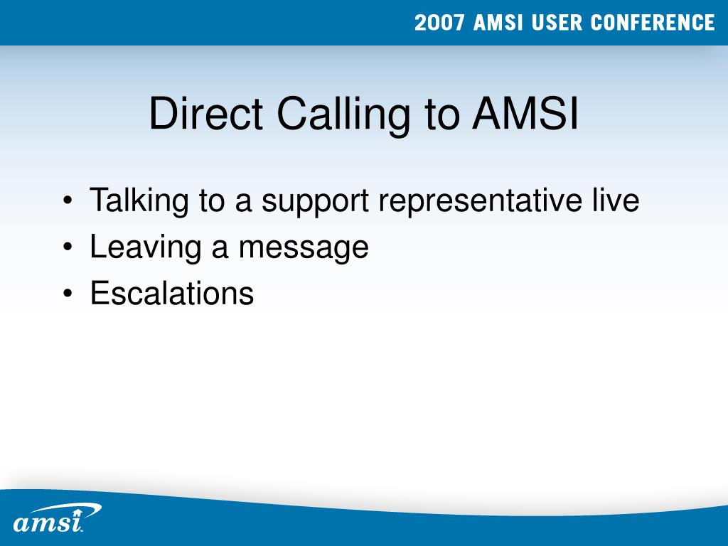 Direct Calling to AMSI