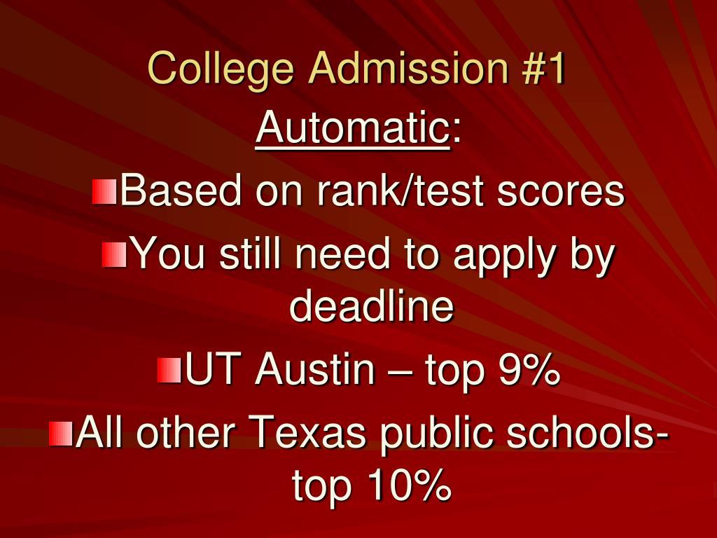 College Admission #1