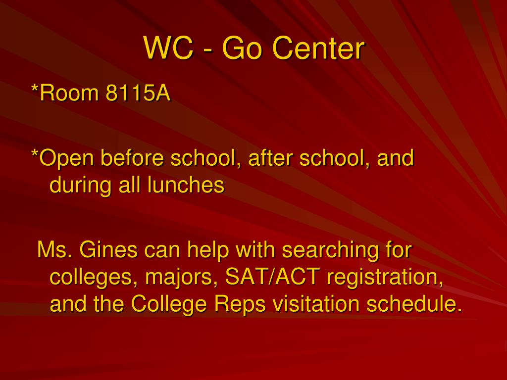 WC - Go Center
