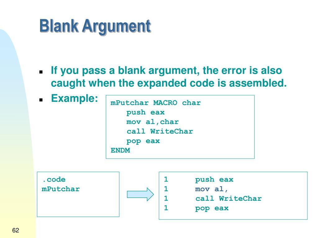 Blank Argument