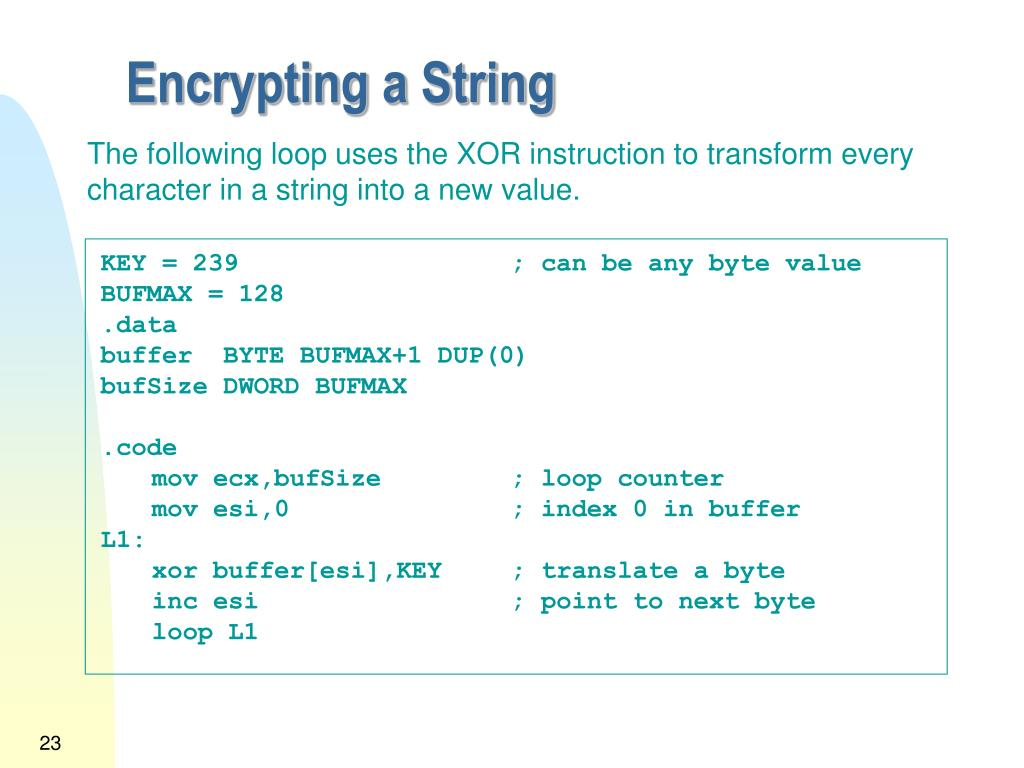 Encrypting a String
