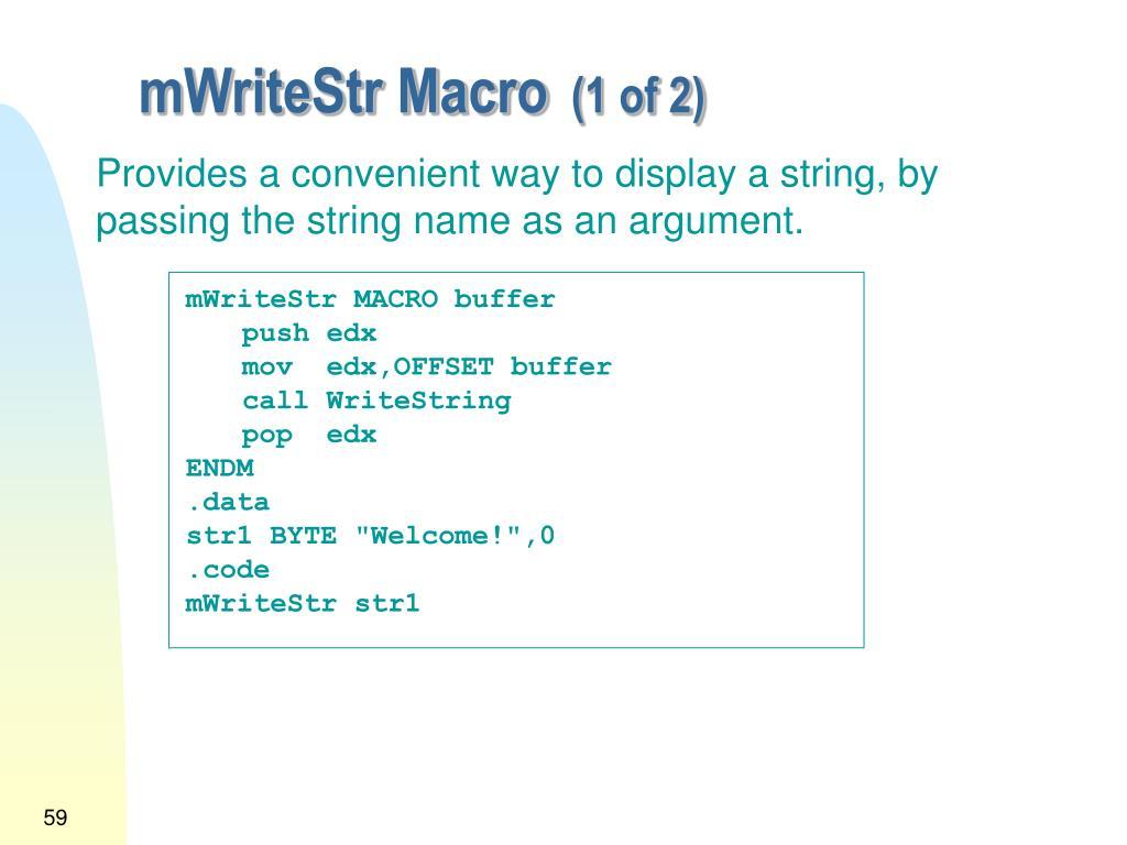 mWriteStr Macro