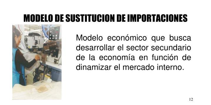 MODELO DE SUSTITUCION DE IMPORTACIONES